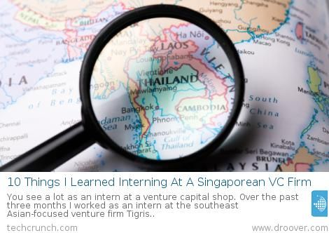 #business #VC #venturecapital 10 Things I Learned Interning At A Singaporean VC Firm