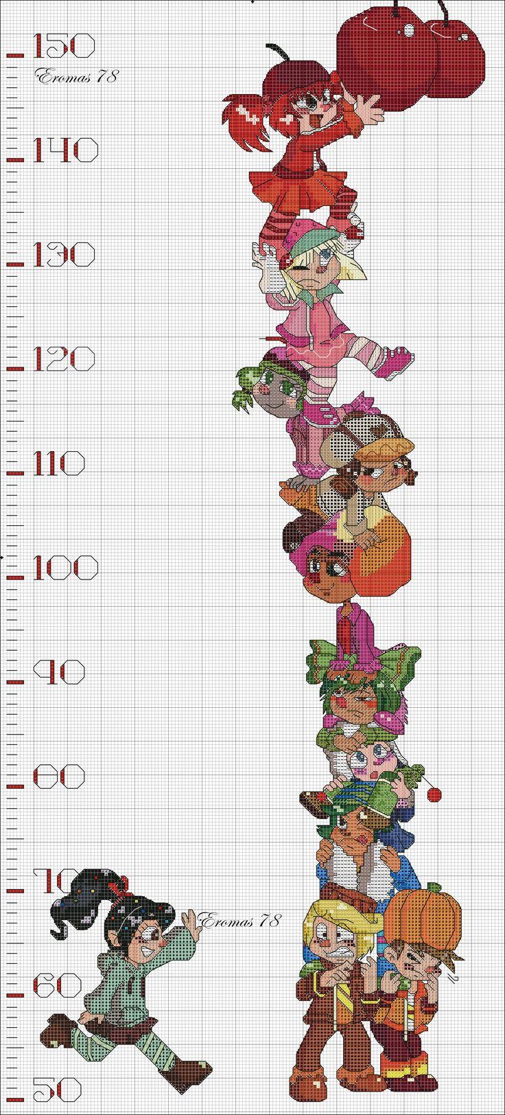 Wreck-It Ralph Height Chart! (2100×4634)
