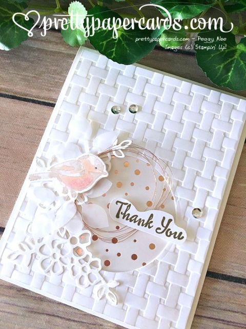 Stampin' Up! Petal Palette Thank You - Prettypapercards - stampinup