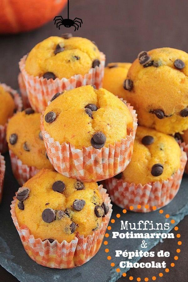 Muffins d'Halloween au Potimarron & Pépites de Chocolat
