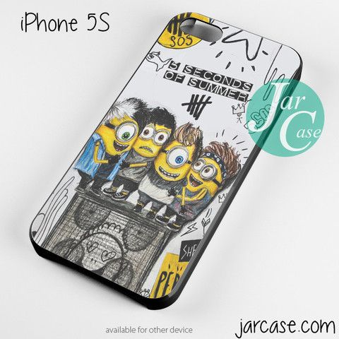 5 seconds of summer minions Phone case for iPhone 4/4s/5/5c/5s/6/6 plus