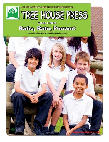 A free grade 8 math strand lesson: Ratio, Rate, Percent.