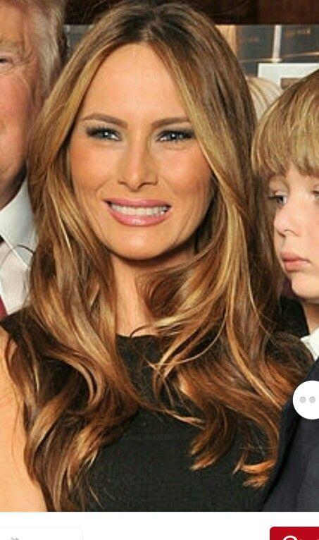 Melania Trump hair color