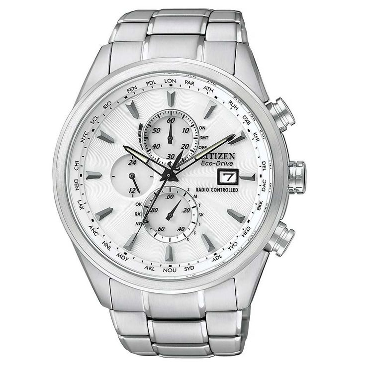 Citizen AT8010-58B Men's World Chronograph A-T White Dial Radio Controlled Eco-Drive Dive Watch