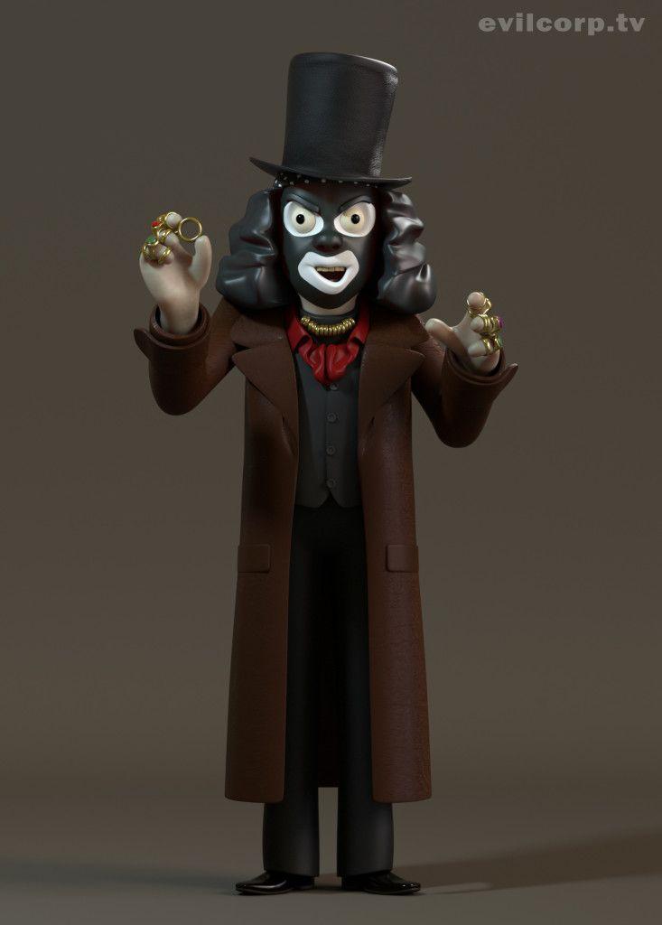 Seth Watkins / Papa Laarou (The League of Gentlemen) #3D #render #character