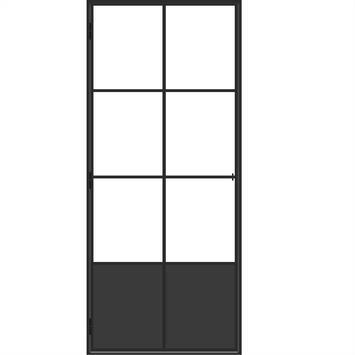 Solid stalen deur Elegance met 6-glasverdelingen 88x214 cm links in de beste prijs-/kwaliteitsverhouding, ruime keuze bij GAMMA.