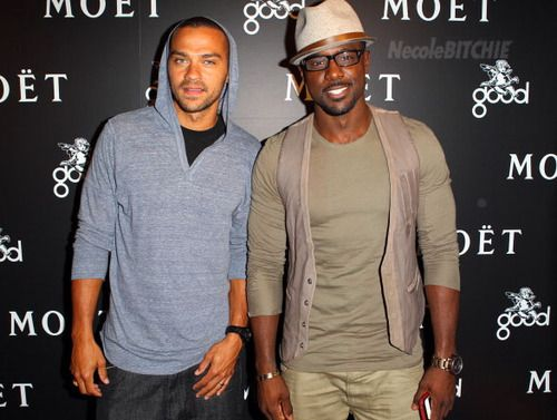 Jesse Williams and Lance Gross. In a photo. Together.