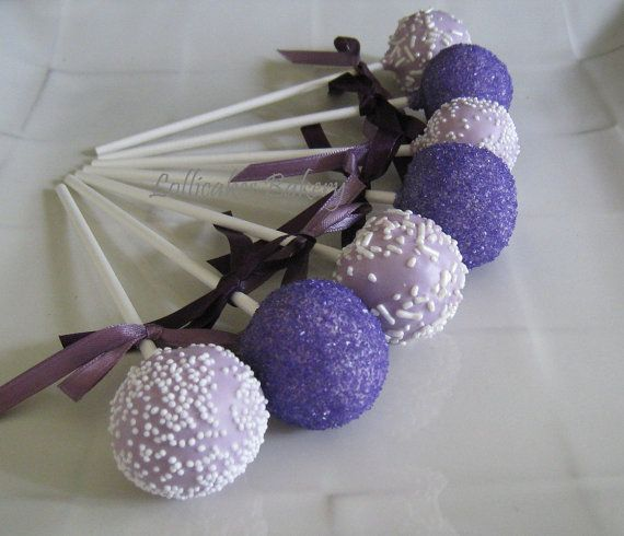 Your guests will enjoy these delightful cake pops!    Cake pops are great as a birthday gift, party favor, table setting, or at a dessert bar