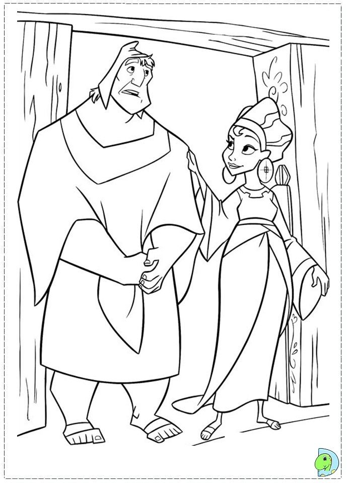kronk coloring pages - photo#10