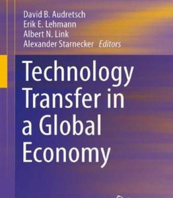 Technology Transfer In A Global Economy PDF