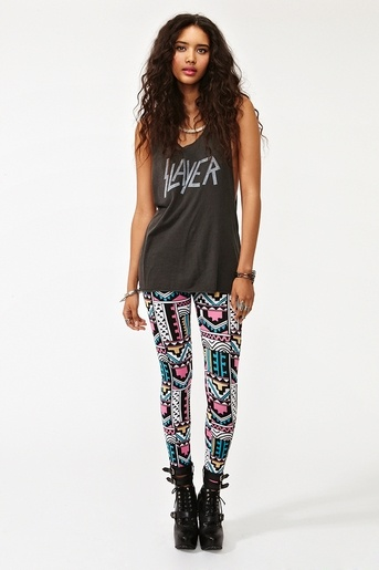 Aztec Leggings.  Totally stunning!  All i want for christmas is shirts like this with aztec leggings!