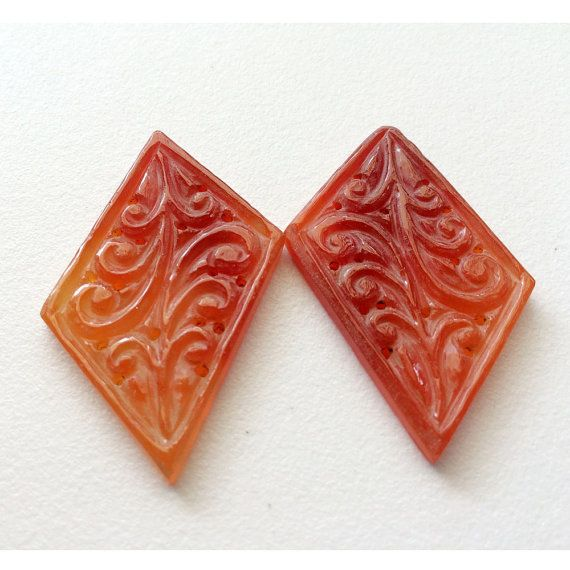 Red Onyx Hand Carved Red Gemstones Carving by gemsforjewels