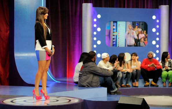 "Rocsi Diaz Photos Photos - BET hosts Rocsi Diaz and Terrence J on the set of BET's ""106"