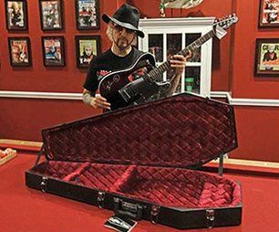Win a $300.00 John5 autographed Fender Squier electric guitar with a coffin case. In addition to being entered to win every entry automatically gets a $15 coupon code to use on anything $99 and above.