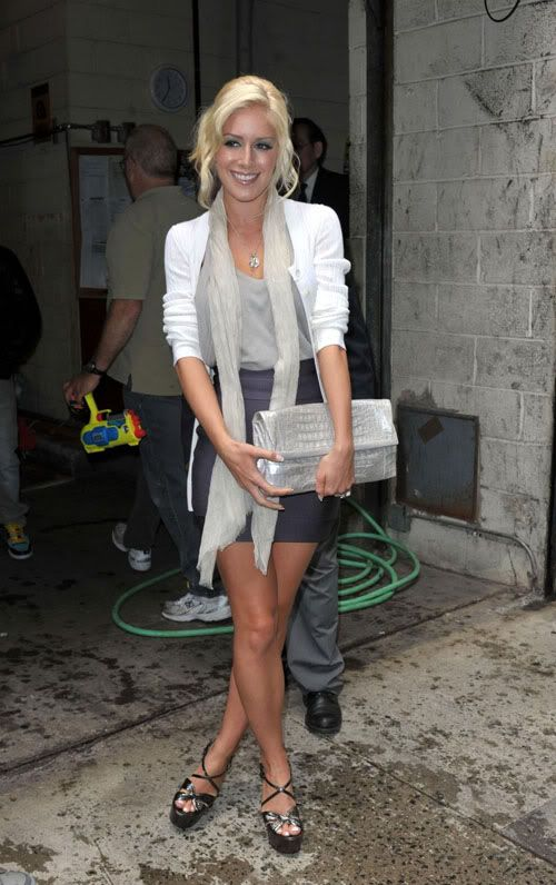 Heidi Montag - looked so much better before she got all that crazy surgery!  (This is still after a couple)
