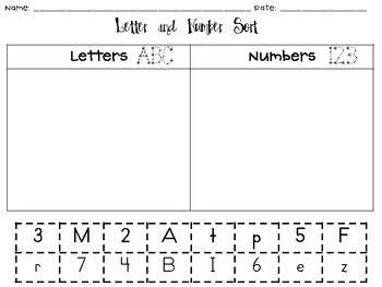 Kindergarten Stars-Sorting Pages - Kindergarten Stars - TeachersPayTeachers.com