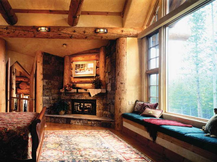 94 best images about bedrooms on pinterest fireplaces for Rustic master bedroom designs
