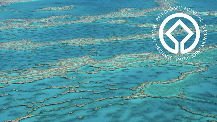 The Great Barrier Reef  & Dredging The argument revolves around whether some development work there might lead to damage of the natural World Heritage site.