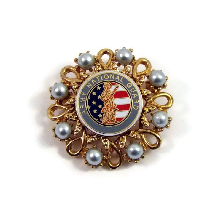 US Army National Guard Lapel Pin Brooch - Mom Wife Sister Girlfriend Spouse Soldier Volunteer Retirement Veteran Promotion Welcome Gift by ButtonPressed on Etsy