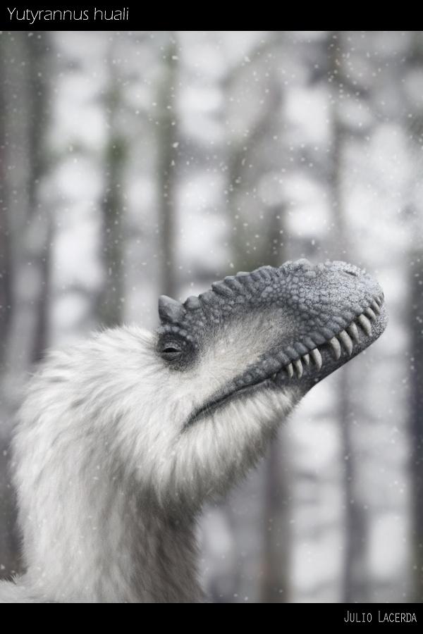 #Yutyrannus, byJulio Lacerda. #dinosaur #paleoart