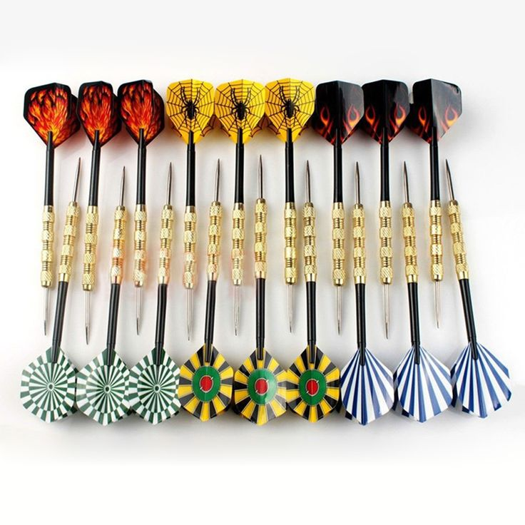 New 18pcs Colorful Needle Steel Tip Dart Darts With Nice Flight Flights Throwing