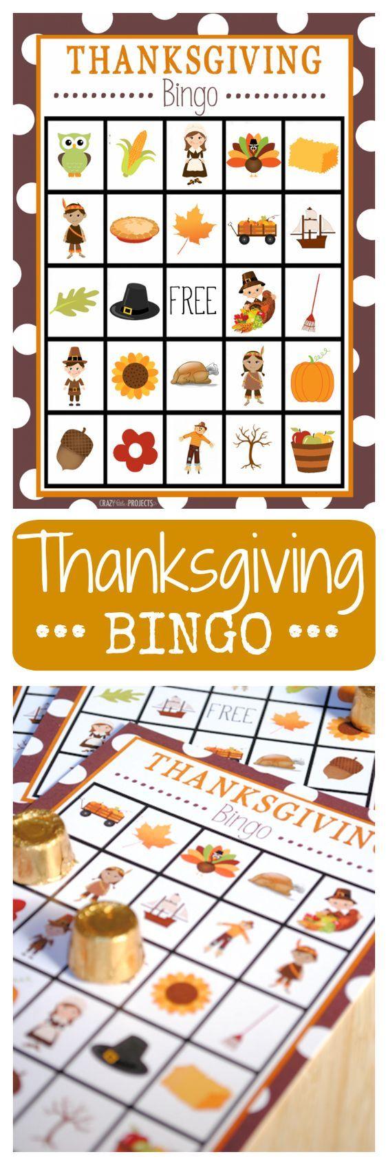 Ideas about thanksgiving bingo on pinterest