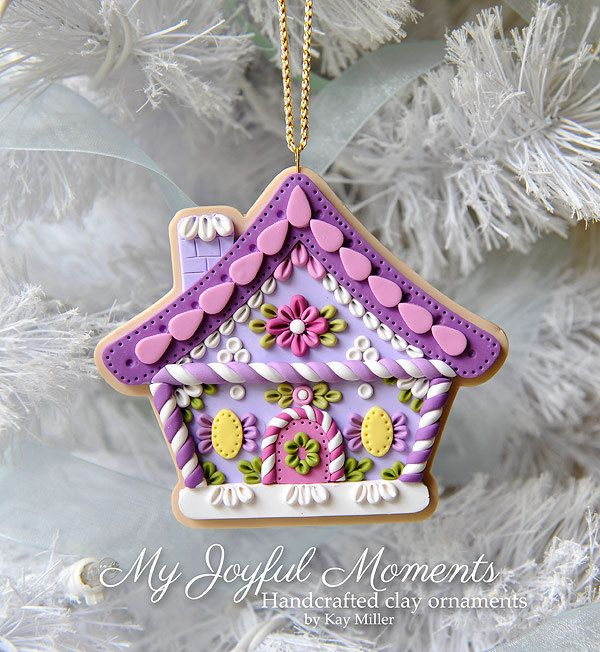 Handcrafted Polymer Clay Gingerbread House di MyJoyfulMoments