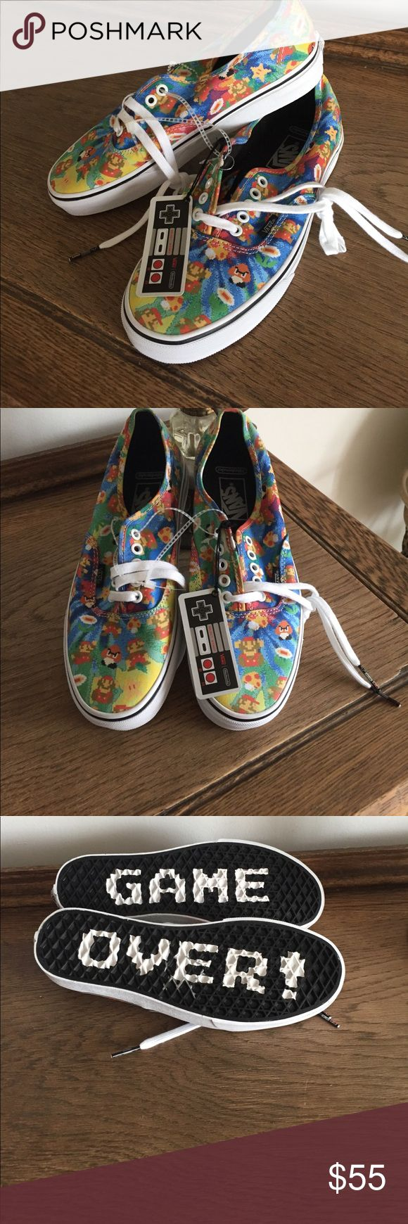 NWT Nintendo Super Mario Bros Vans Vans Nintendo collection super Mario brothers ! No box ,never worn new with tags!  Men's size 8 / Women's 9 1/2. Vans Shoes Sneakers