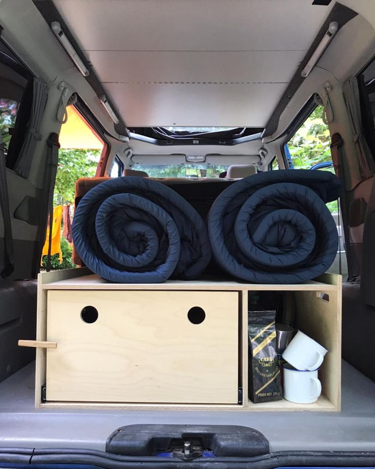 Plywood removable slide out kitchen box. Part of a conversion for a VW caravelle camper T4. Sits on sliders that mean it can easily be removed and installed so the van can be used as camper of work van. Made in Sheffield, UK by Fallen Giants