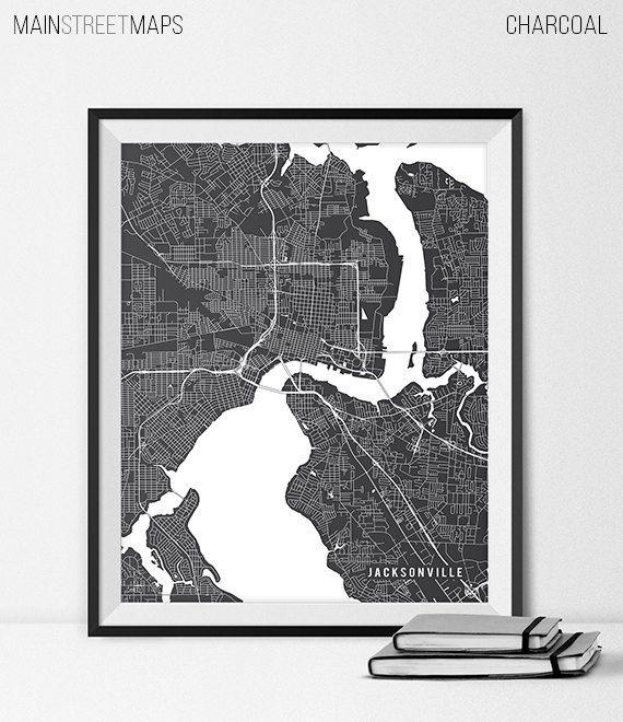 Jacksonville Florida State Map Art Print, Jacksonville University Art Print Dorm Decor Grad Gift Jacksonville City Map of Jacksonville Art https://www.etsy.com/listing/226645363/jacksonville-florida-state-map-art-print?ref=shop_home_active_19