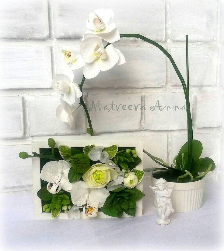 Цветочная композиция в рамке. Размер 20×15 см. #фоамиран#фомфлористика#цветыручнойработы#цветыизфоамирана#цветывинтерьере#foamiran#foamiranflowers#декор#интерьер