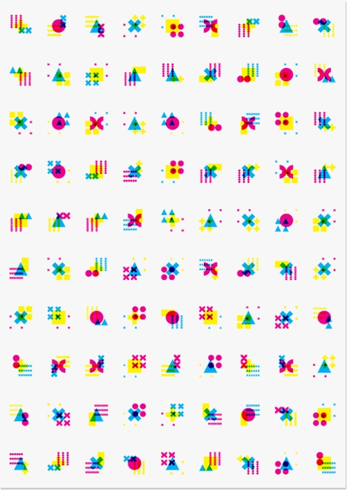 Kaai Theater | Modern Practice geometric colorful icon