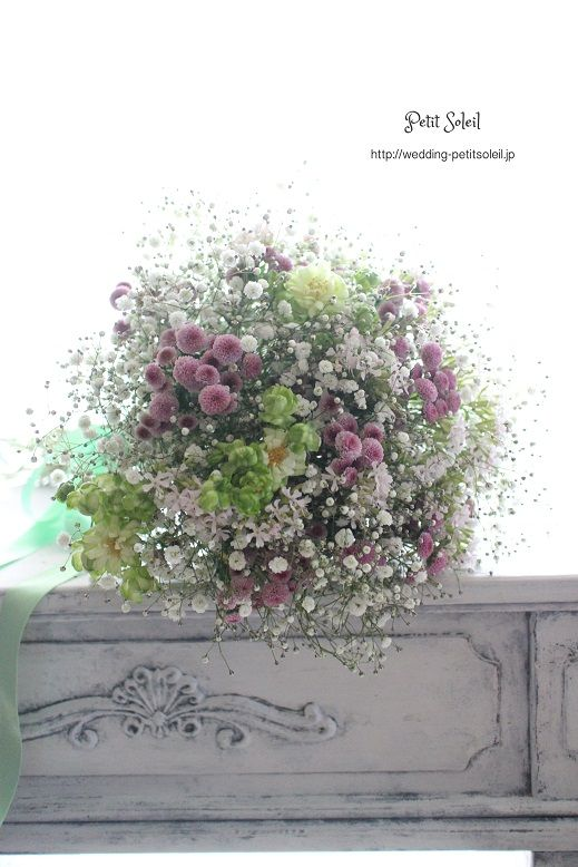 カスミソウ 小花のブーケ baby's breath bouquet