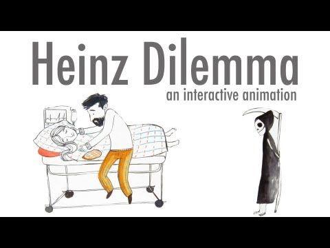 Kohlberg onderzocht de morele ontwikkeling van jongeren en hun cognitieve ontwikkelingsniveau. Dat onderzoek heet het dilemma van Heinz. -dilemma van Heinz -filmpje