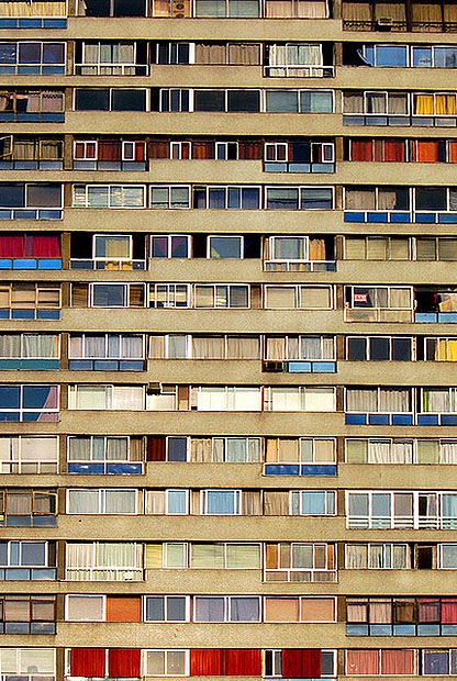 suburban - love the lines and colour and full frame...love this photo.