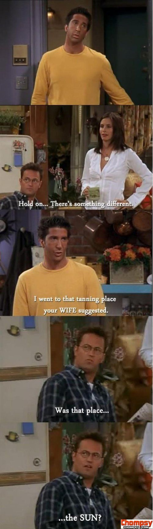 funny friends tv show quotes tanning beds