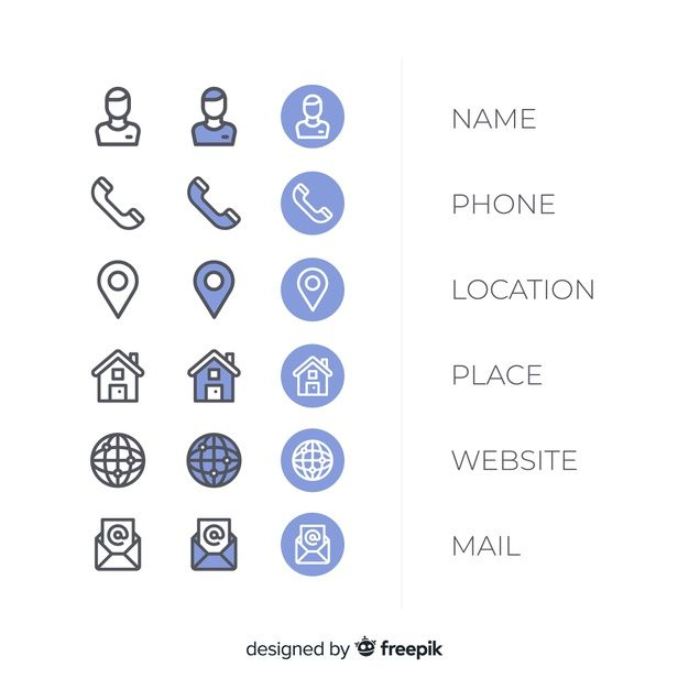 Skachivajte Kollekciya Ikonok Vizitnyh Kartochek Besplatno Business Card Icons Business Branding Design Vector Free