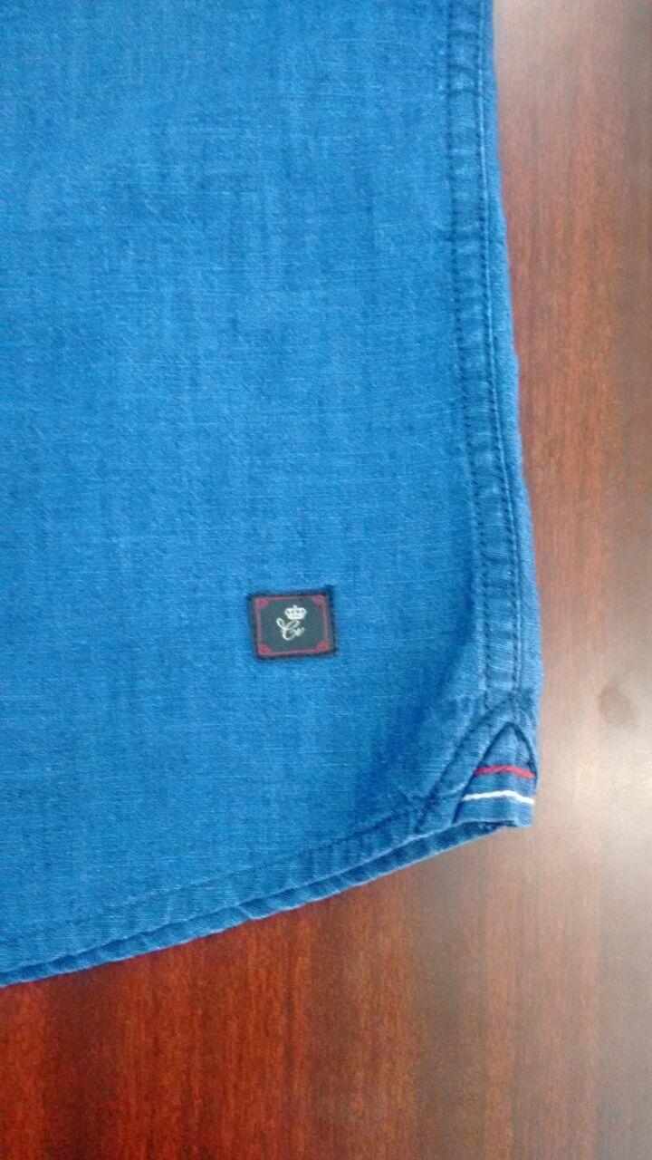 Men's shirt detailing.casual.indigo