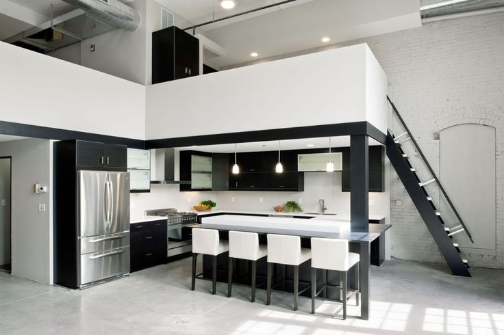 high ceiling - living space up, and work space below