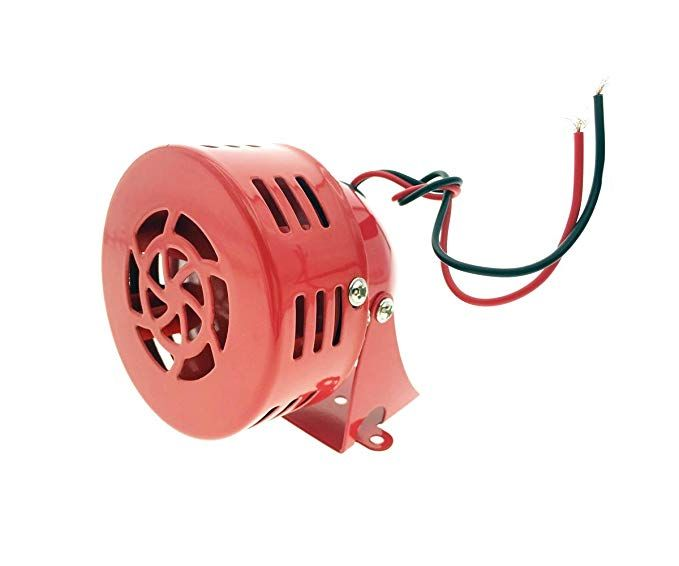 Dc 12v Ms 190 Fire Alarm Buzzer Industrial Electronic Wind Screw Motor High Decibel Mini Siren Review Fire Alarm Alarm Buzzer