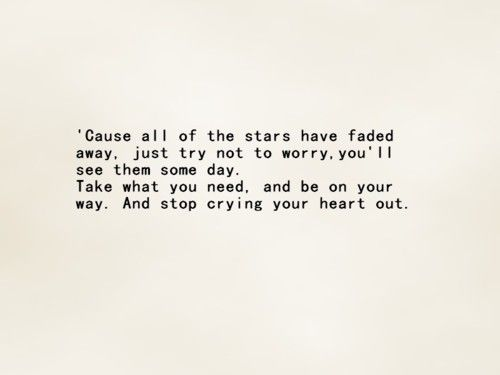 Stop Crying Your Heart Out - Oasis