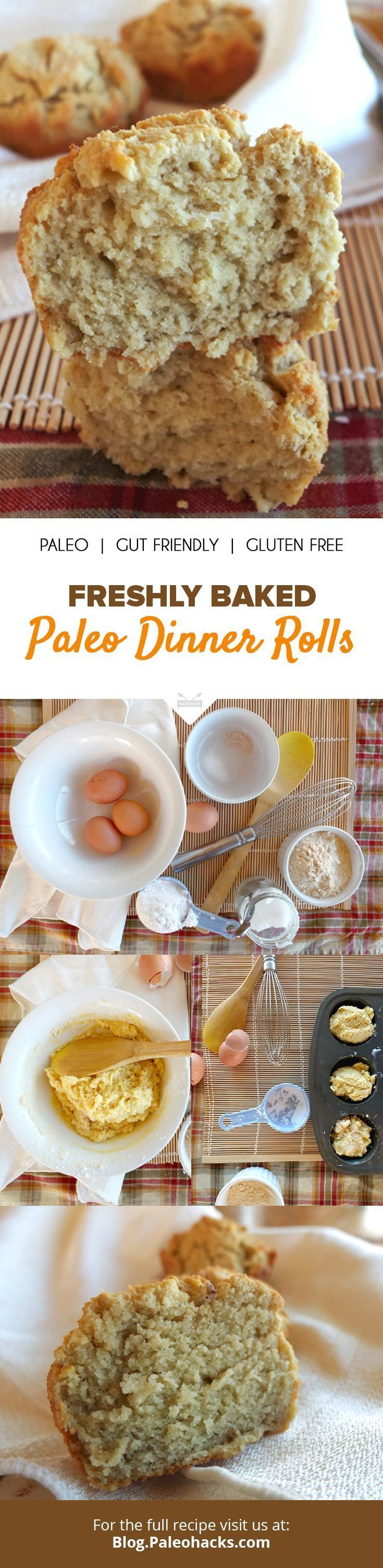 Miss bread rolls on Paleo? Fortunately, it's easy to make grain-free dinner rolls. All you need is a few ingredients, a muffin pan, and a mixing bowl! Get the full recipe here: http://paleo.co/rollspaleo