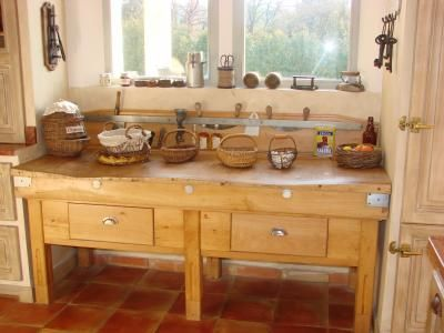 authentic tables for a french country kitchen - Sharon Santoni