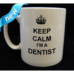 Yet another coffee cup to add to the dentist's collection.