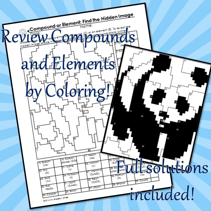 Classifying Matter Coloring and Puzzle Review - Editable   matter ...