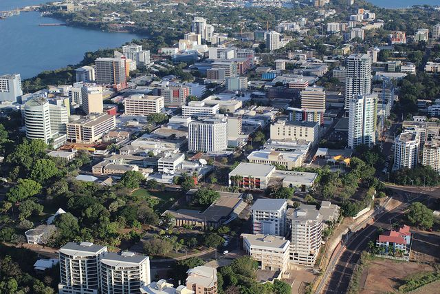 Darwin, Australia - Darwin is the capital and biggest city in the Northern Territory, Australia. It is a city of 124,800 people located on the Timor Sea.