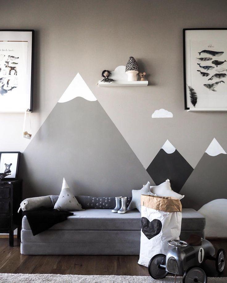 Cozy scandinavian kidsroom. KK 3 Fold in velvet argent grey from by KlipKlap. Multipurpose furniture in Danish design for both kids and adults. Photo credit: @Carolinenehring