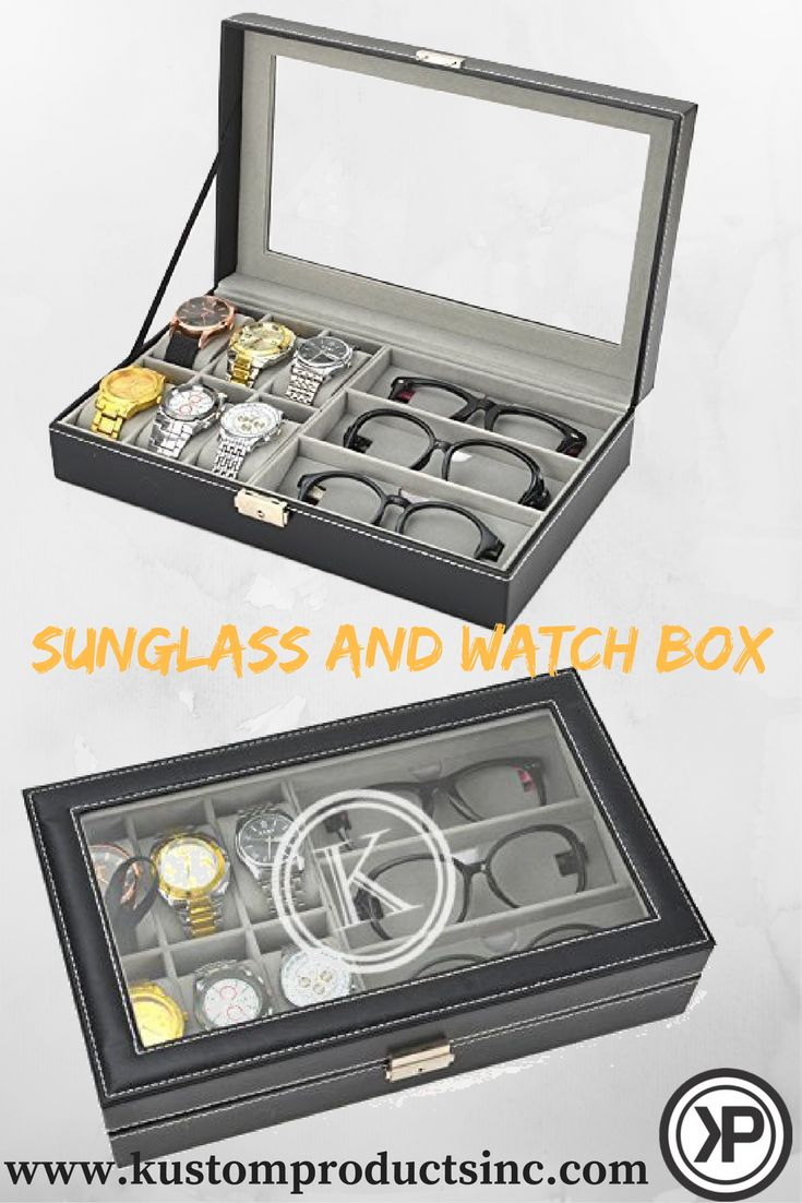 The perfect gift! Custom Engraved Watch & Glasses Box!  Engraved Watch Box will make a perfect gift for yourself and/or another who likes to class it up with their own personalized watch & Glasses collection!  Christmas Gifts, Birthday Gifts, Bridal Gifts, Wedding Gift, Father's Day, Mother's Day or get one for yourself!