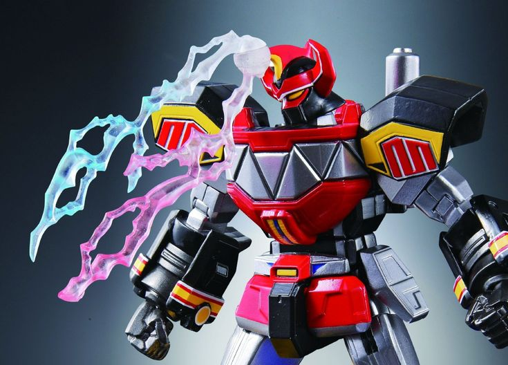 Amazon.com: Bandai Tamashii Nations Super Robot Chogokin Megazord Mighty Morphin Power Rangers: Toys & Games
