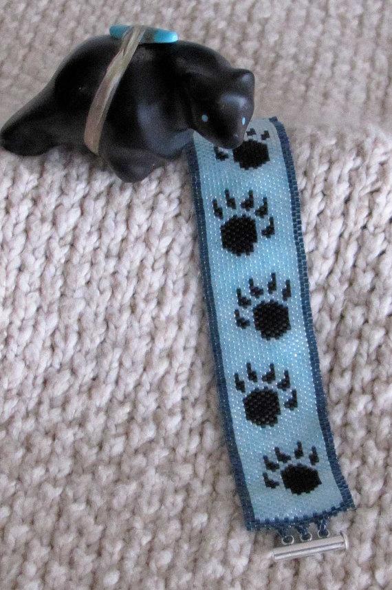 Bear Paw Bracelet Seed Bead Bracelet By